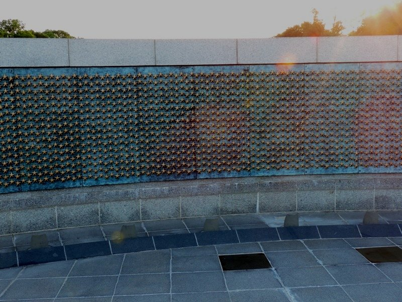 Stars from World War II Monument