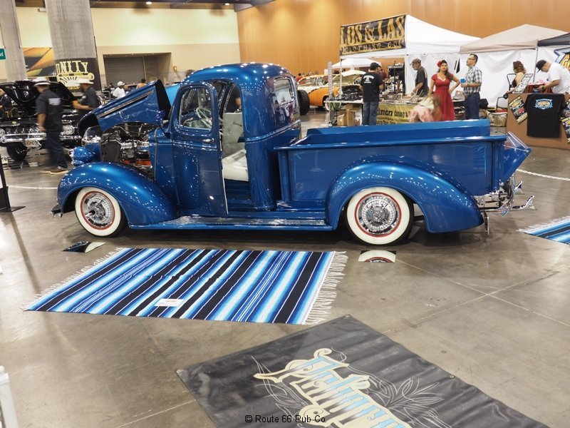 AZ Indoor Custom Car Show Blue Truck