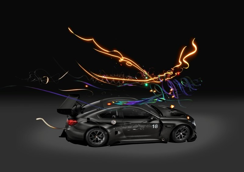 BMW Art Car #18 Top View