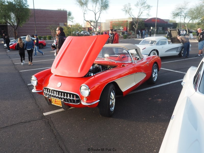 Cars and Coffee Red Corvette