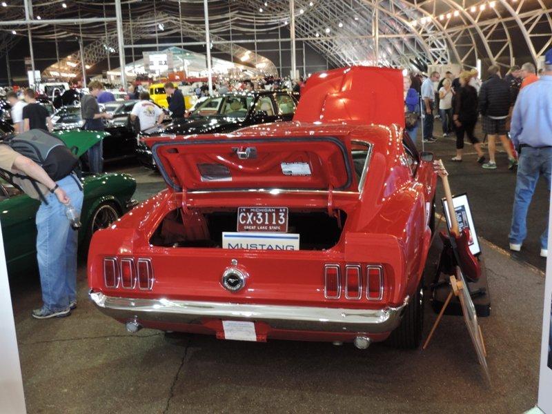 Trunk of Kroeger's 429 Boss Mustang