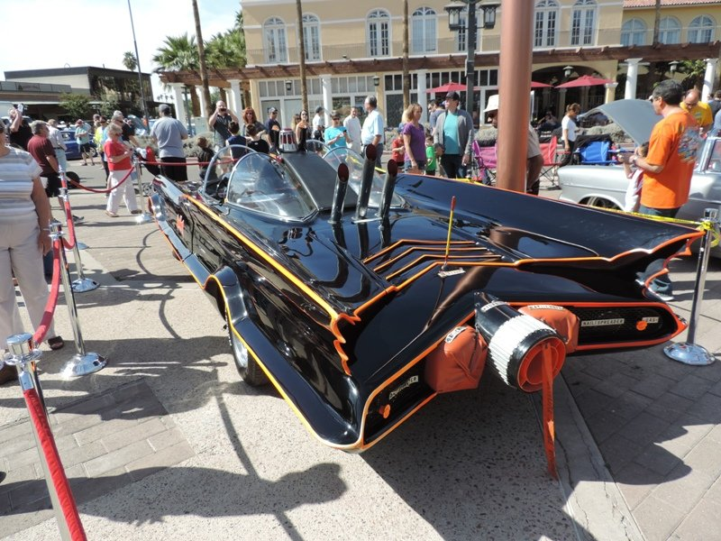 Rear view of Batmobile