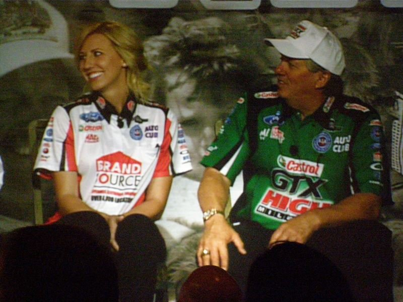 Courtney and John Force too