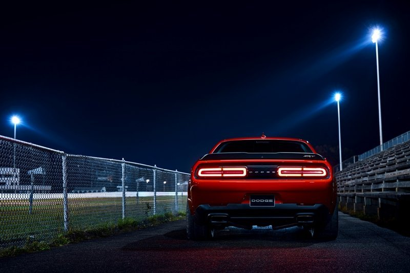 Dodge Demon at Night