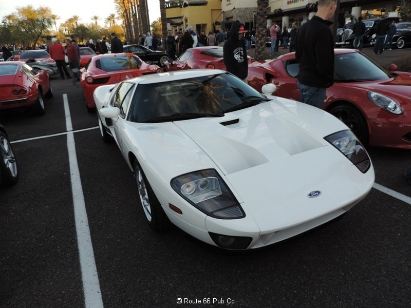 Ford GT in White Front View
