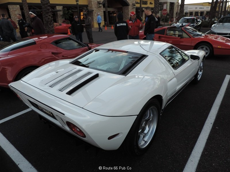 Ford GT in White Rear View