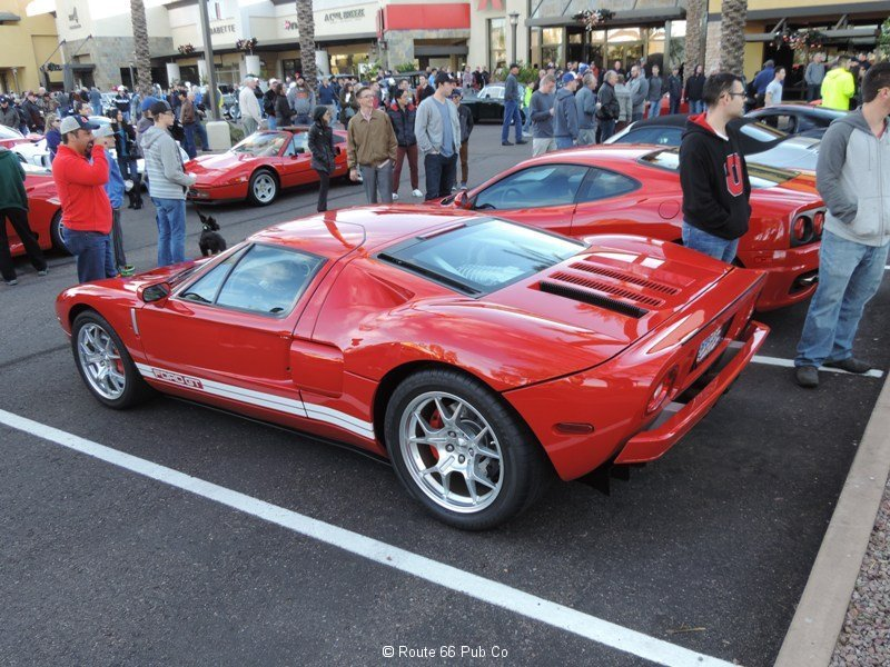 Ford GT in Red Side View