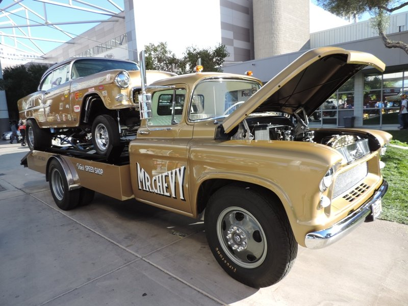 55 Chevy and Hauler Right Side