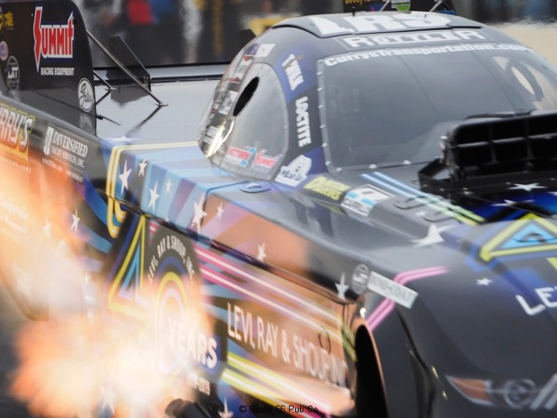 NHRA AZ Nationals Flames up close