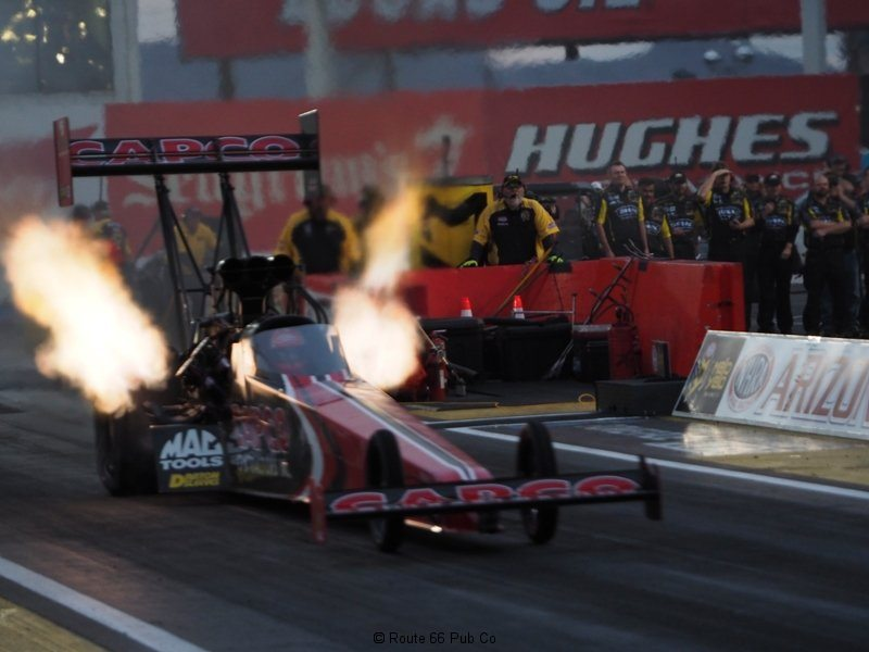 NHRA AZ Nationals Dragster with Flames