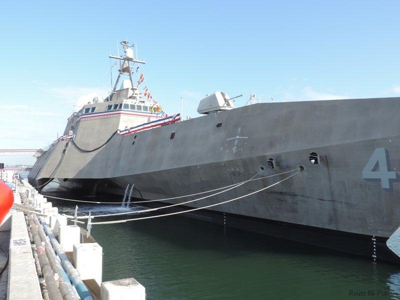 USS Coronado docked
