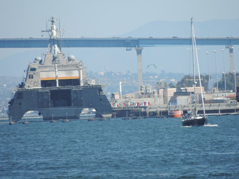 USS Coronado coming to port