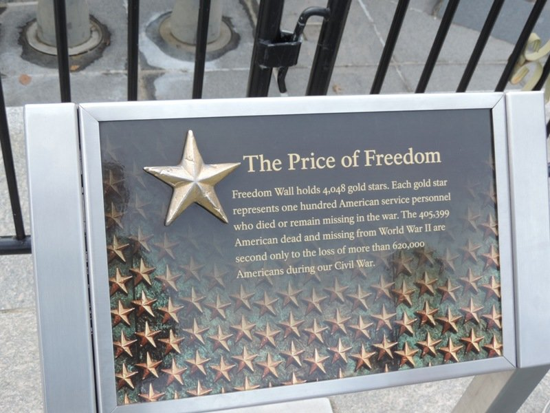 World War Two Memorial Explanation of Stars