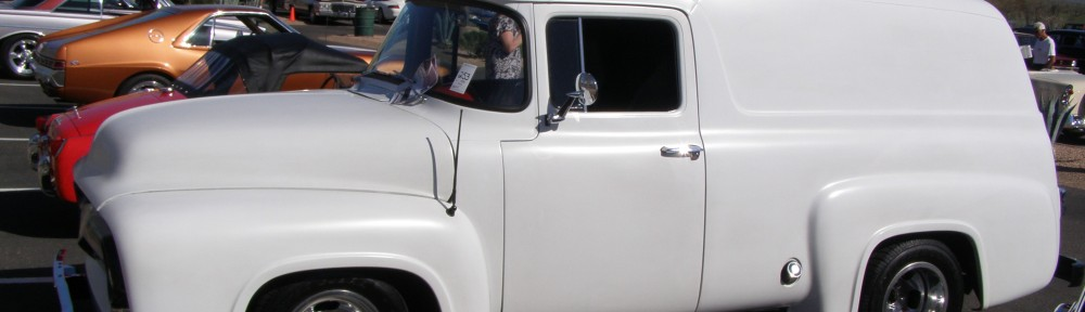 Green Day's Mike Dirnt offered his 56 Ford Panel Truck at Silver Auction's Arizona in the Spring