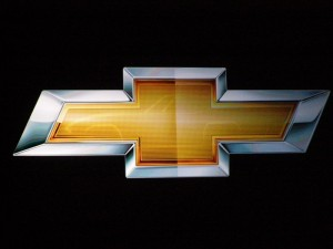 View in gold of Chevrolet's Bow Tie emblem