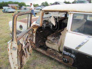 Interior view of 1956 station wagon