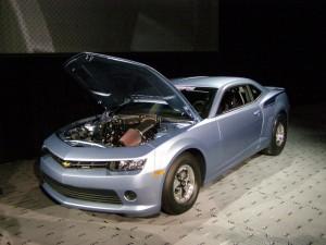 Light Blue drag car