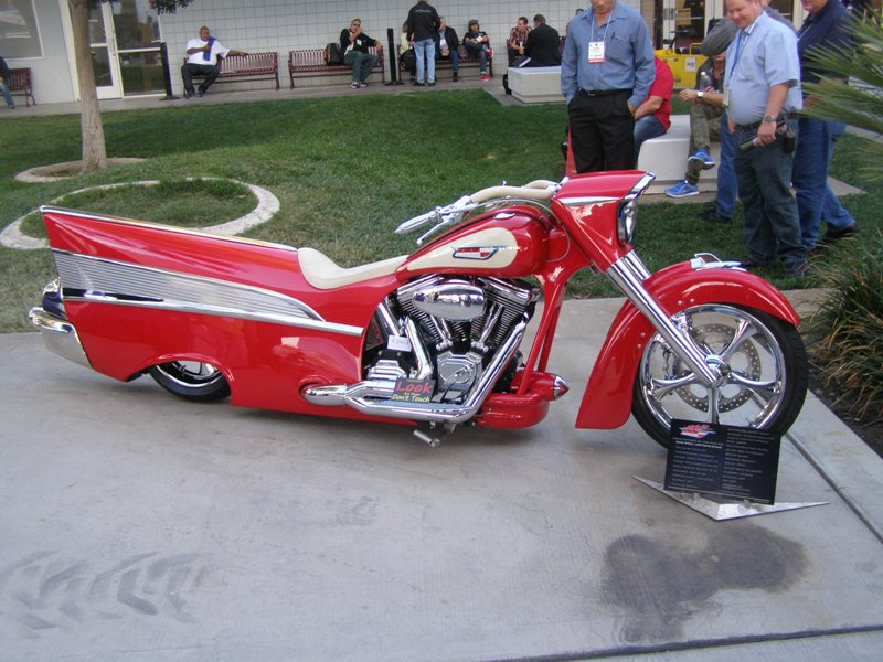 1957 Bel Air Themed Motorcyle Is Sema Sensation Route 66