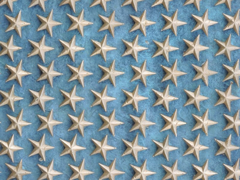 Closeup of Stars from World War II Monument