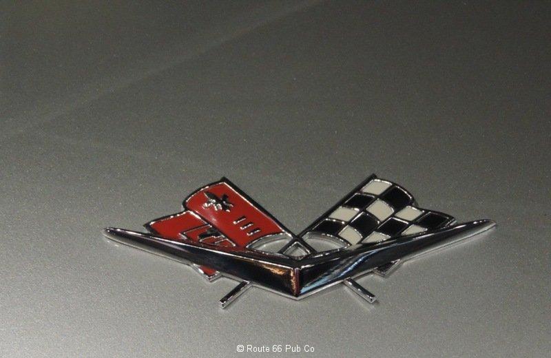 61 Corvette Crossed Flags