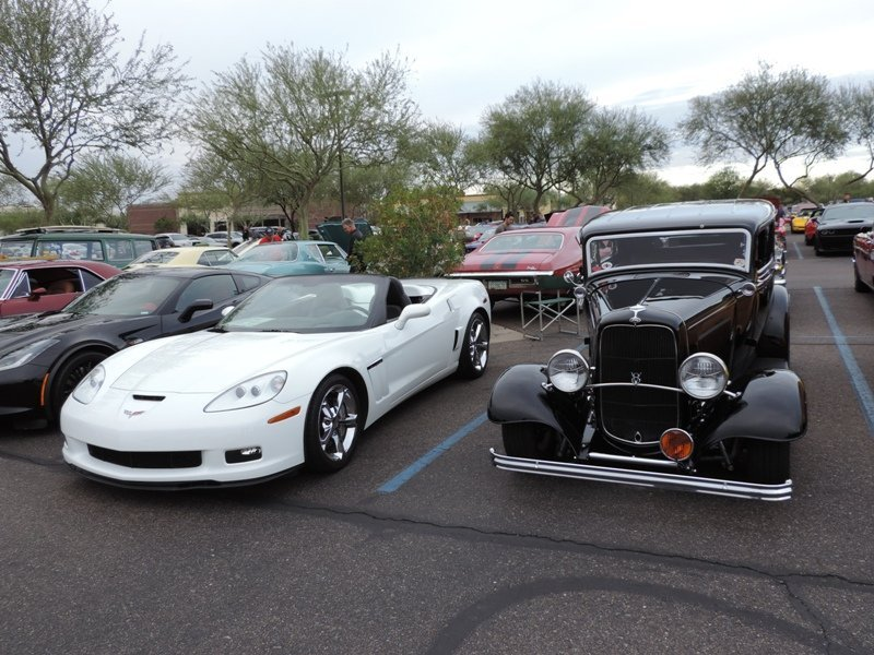 Cars and Coffee Old and New