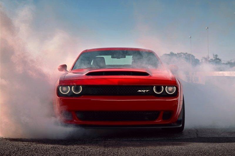 Dodge Demon Smoking the Tires