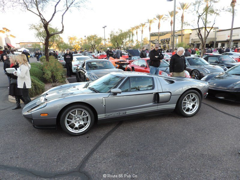 Ford GT in Gray Side View