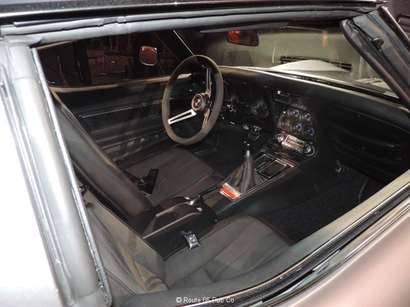 Jimmie Johnson\'s 71 Corvette Interior View