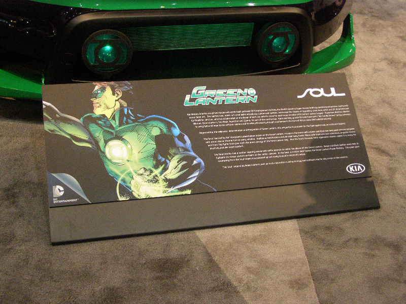 Green Lantern Kia Soul Hero Card