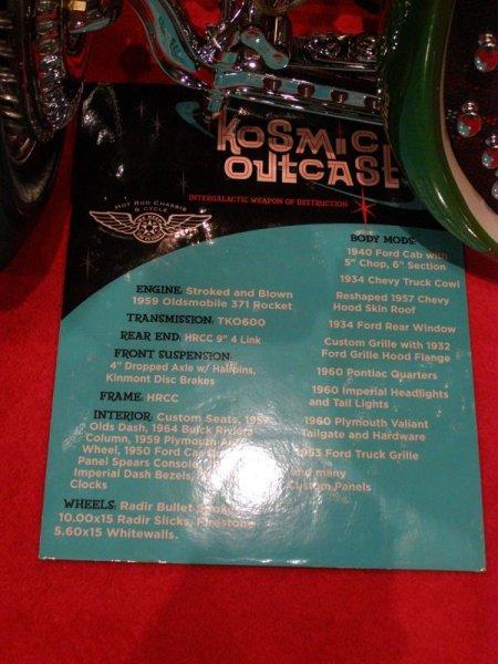 Kosmic Outcast facts