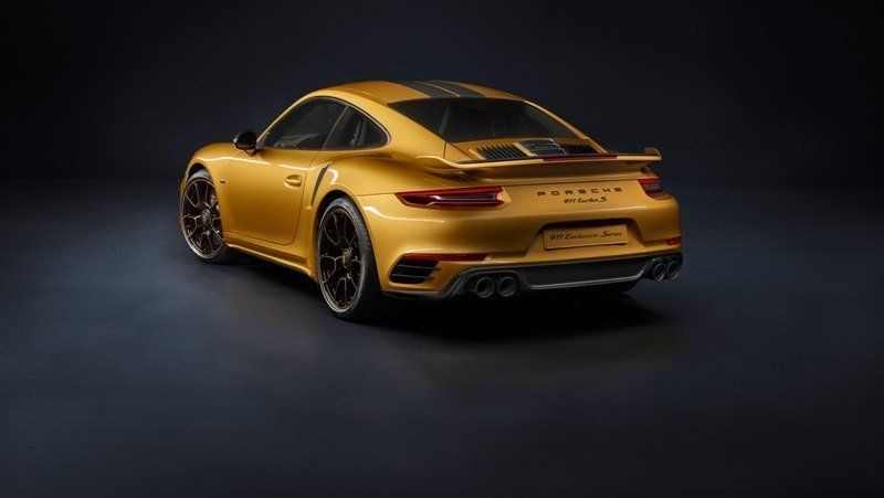911 Turbo S Exclusive Series Rear End Shot