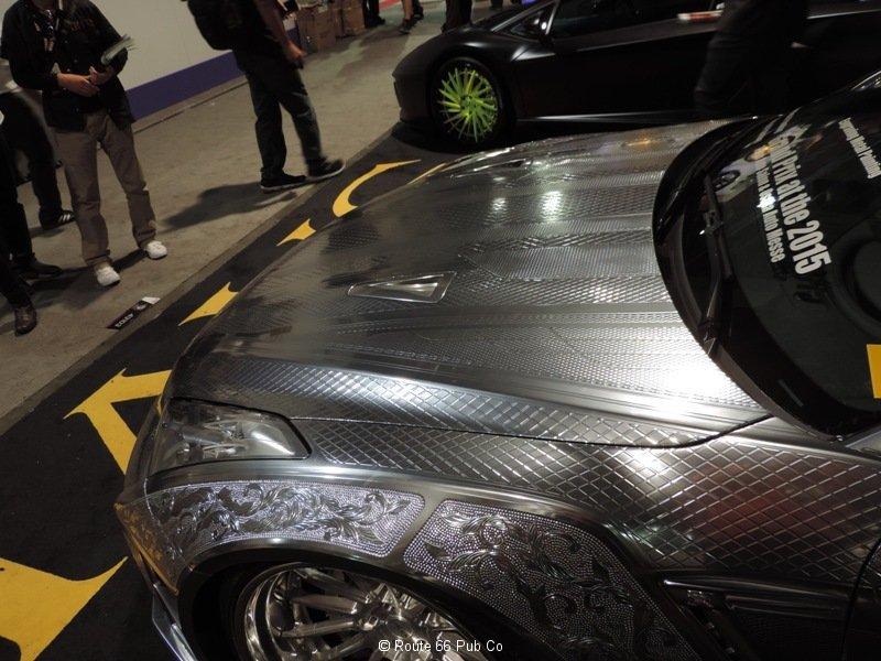 Silver Nissan GTR drivers side