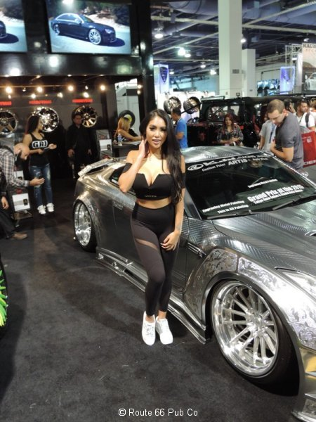 Silver Nissan GTR with Model