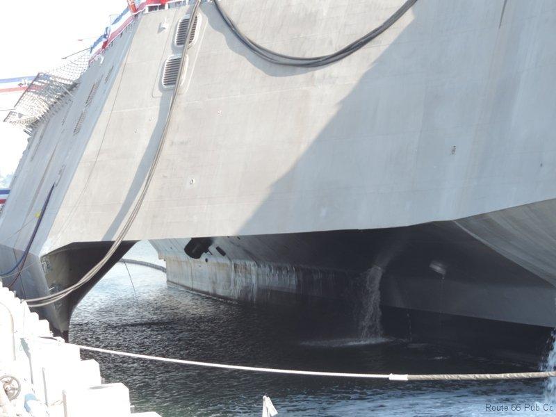 USS Coronado close up of hull