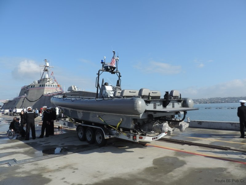 Inflatable boat from USS Coronado