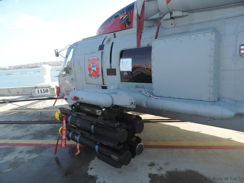 armament on helicopter