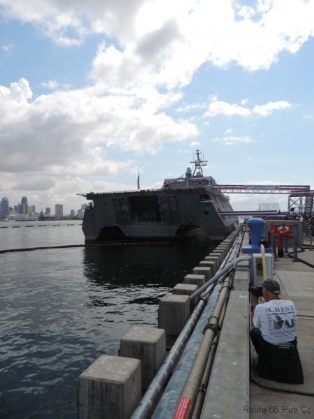 Rear view of USS Coronado