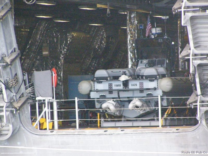 Rear deck of USS Coronado