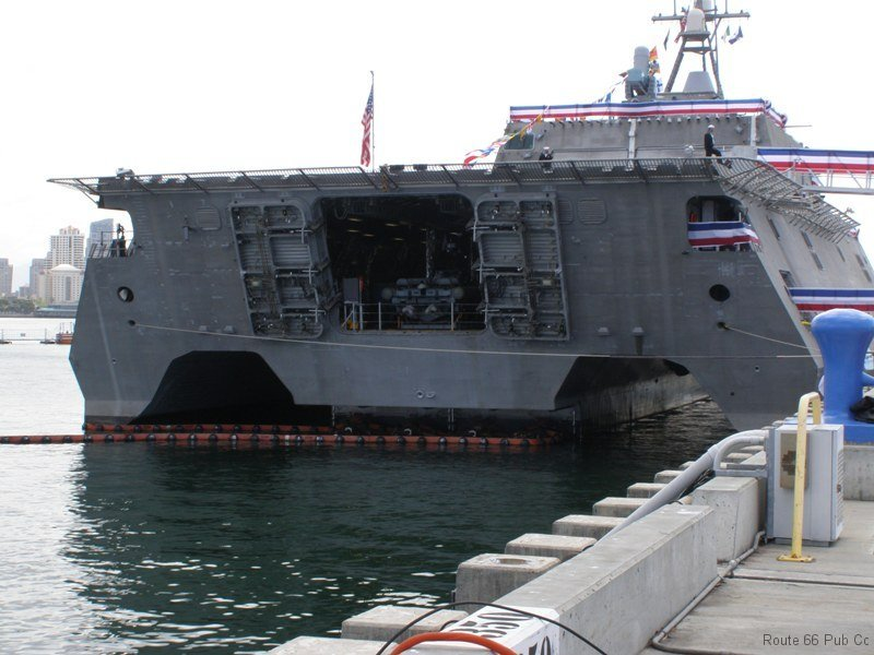 USS Coronado rear end